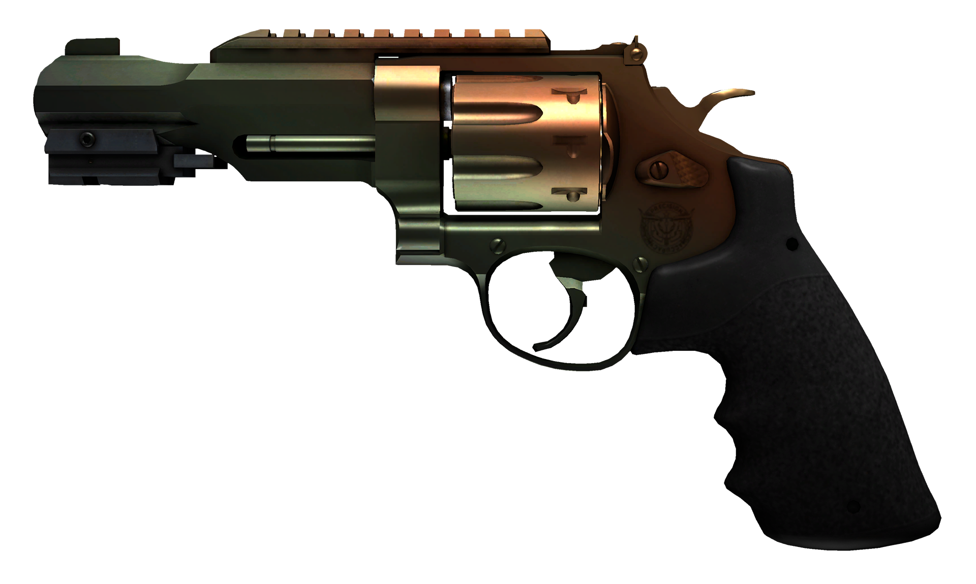 R8 Revolver Amber Fade Large Rendering