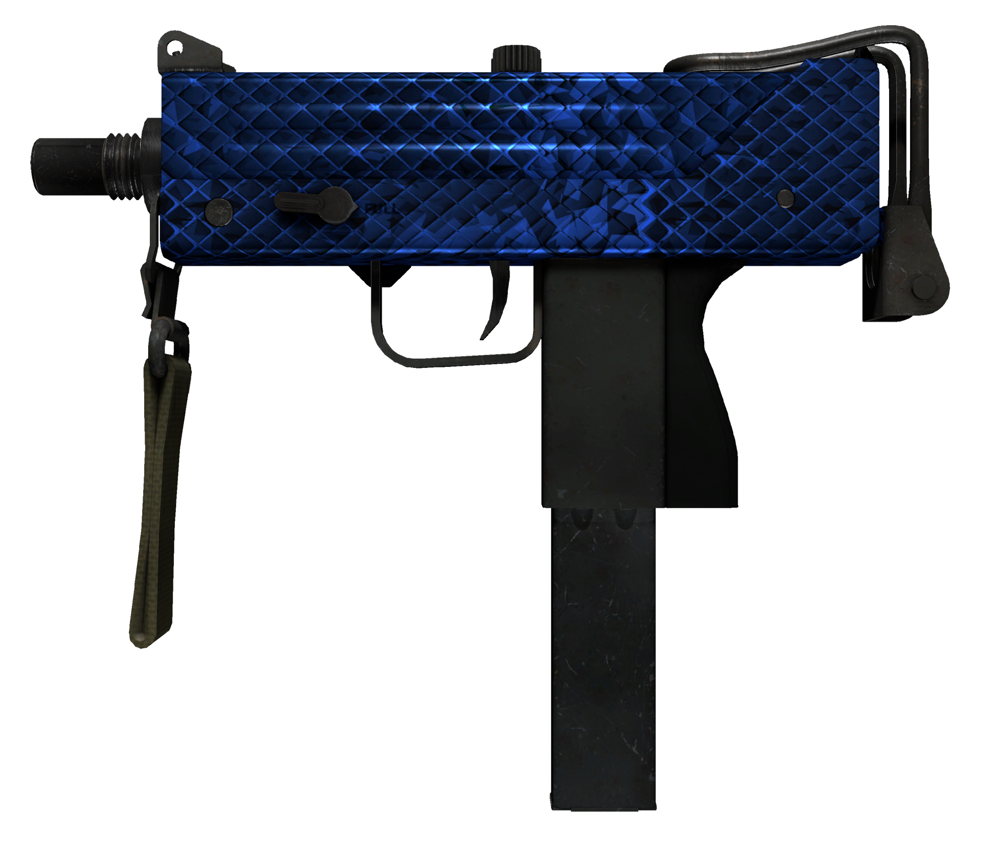 MAC-10 Lapis Gator Large Rendering
