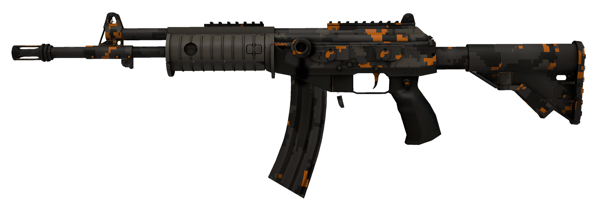 Galil AR Orange DDPAT Large Rendering