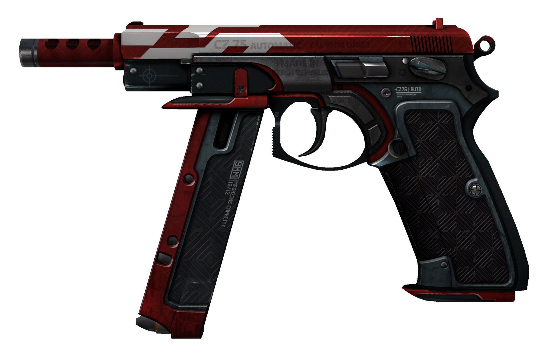CZ75-Auto Red Astor Large Rendering