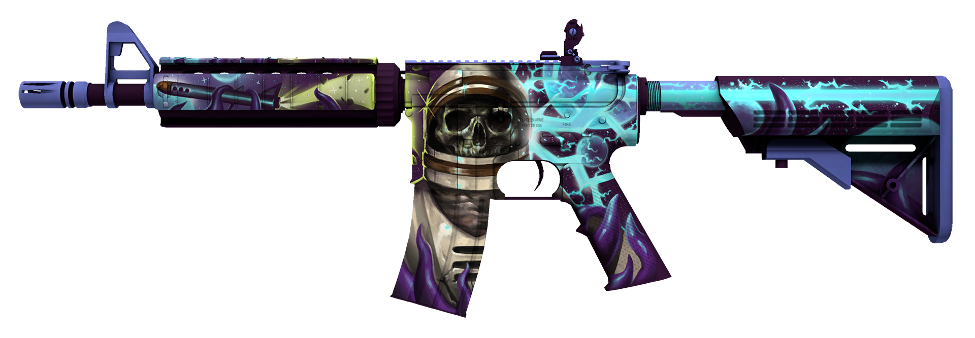 M4A4 Desolate Space Large Rendering