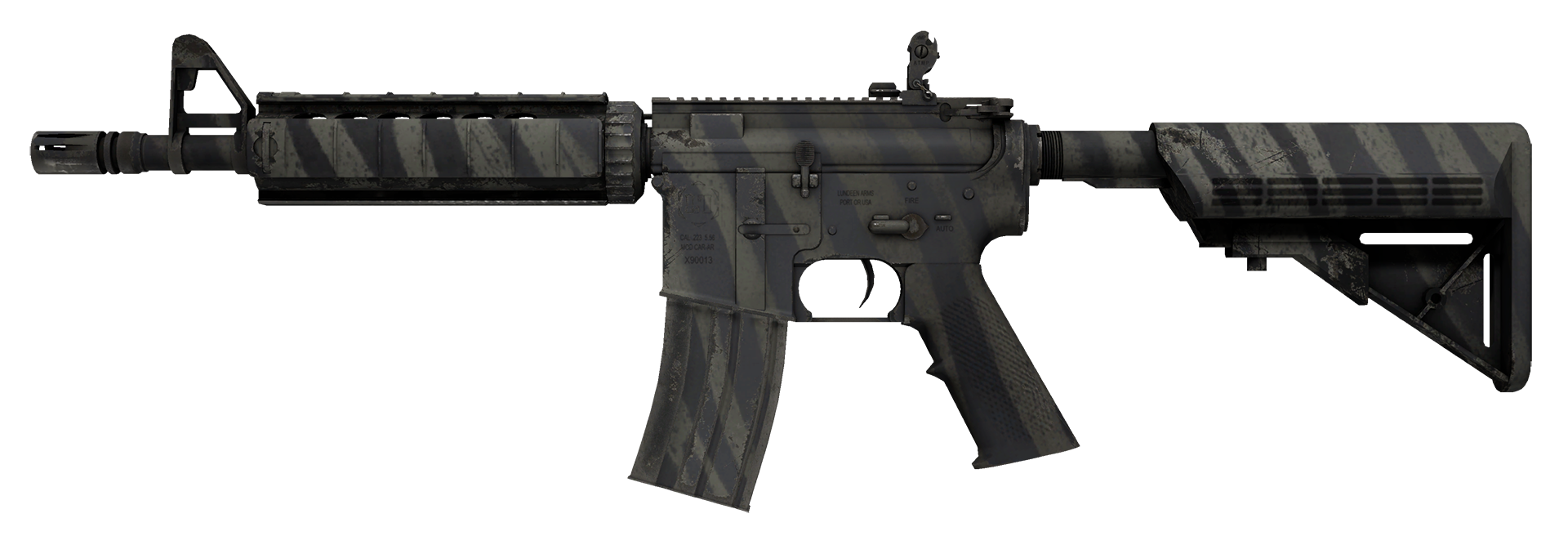 M4A4 Faded Zebra Large Rendering