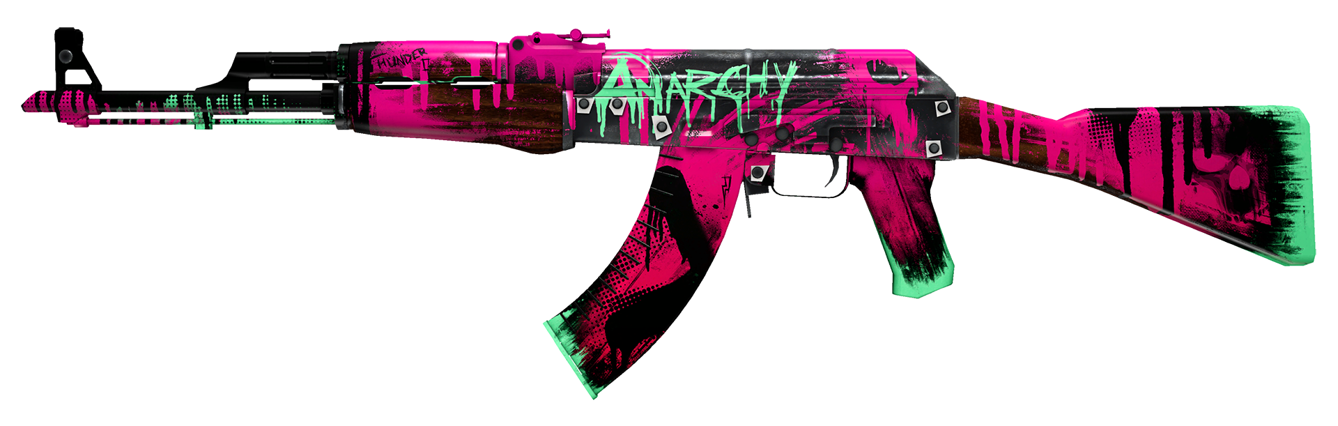 AK-47 Neon Revolution Large Rendering