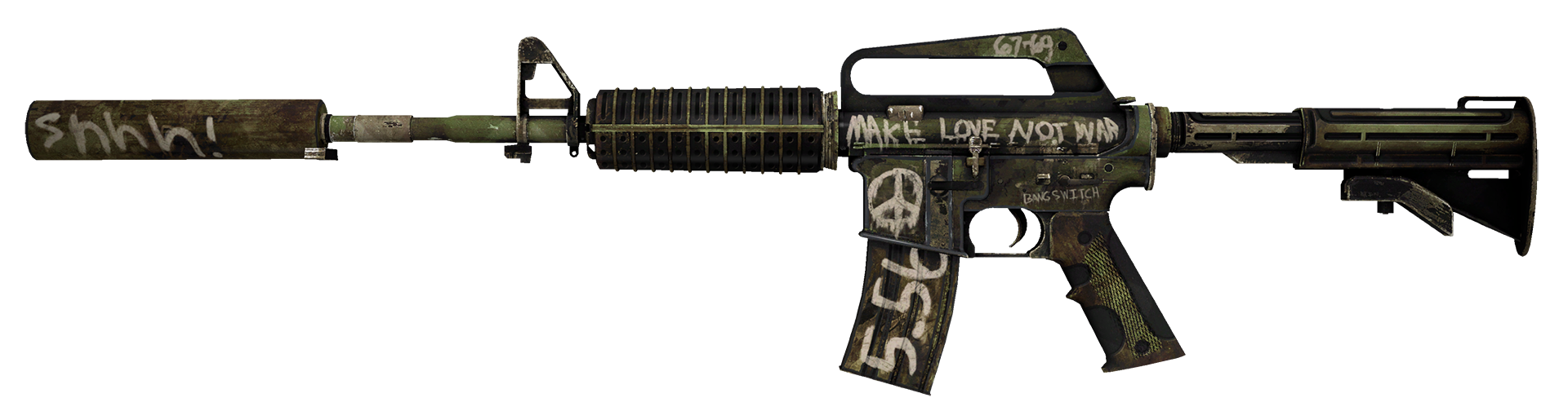 M4A1-S Flashback Large Rendering