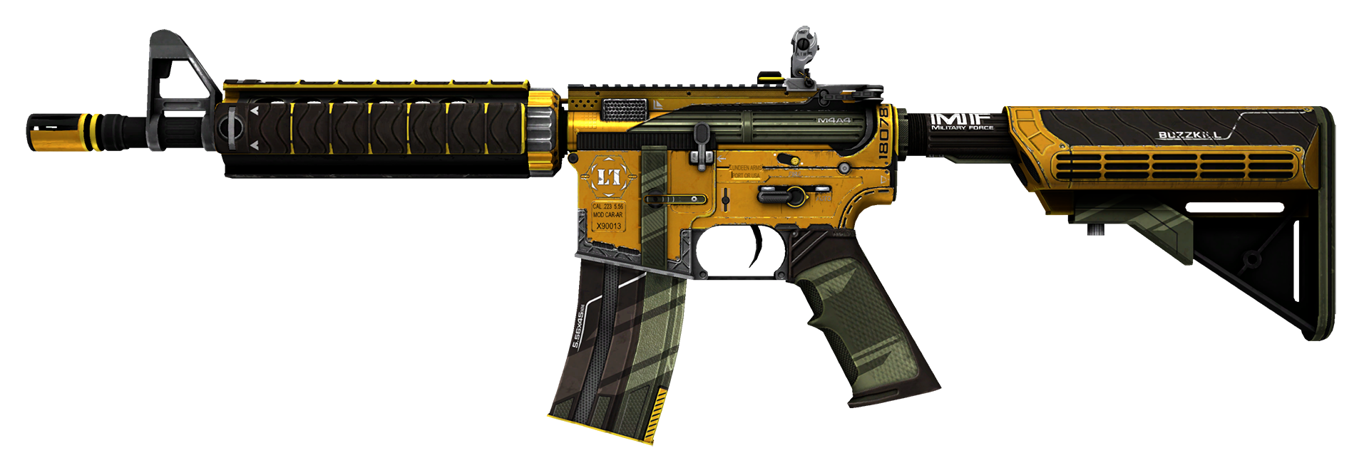 M4A4 Buzz Kill Large Rendering