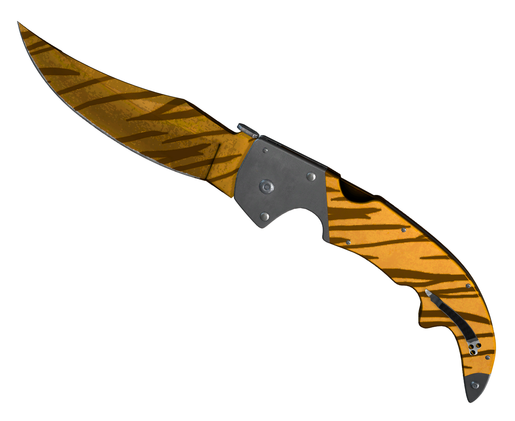 Falchion Knife Tiger Tooth Large Rendering