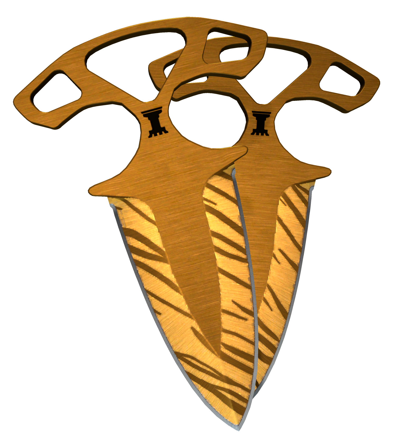 Shadow Daggers Tiger Tooth Large Rendering