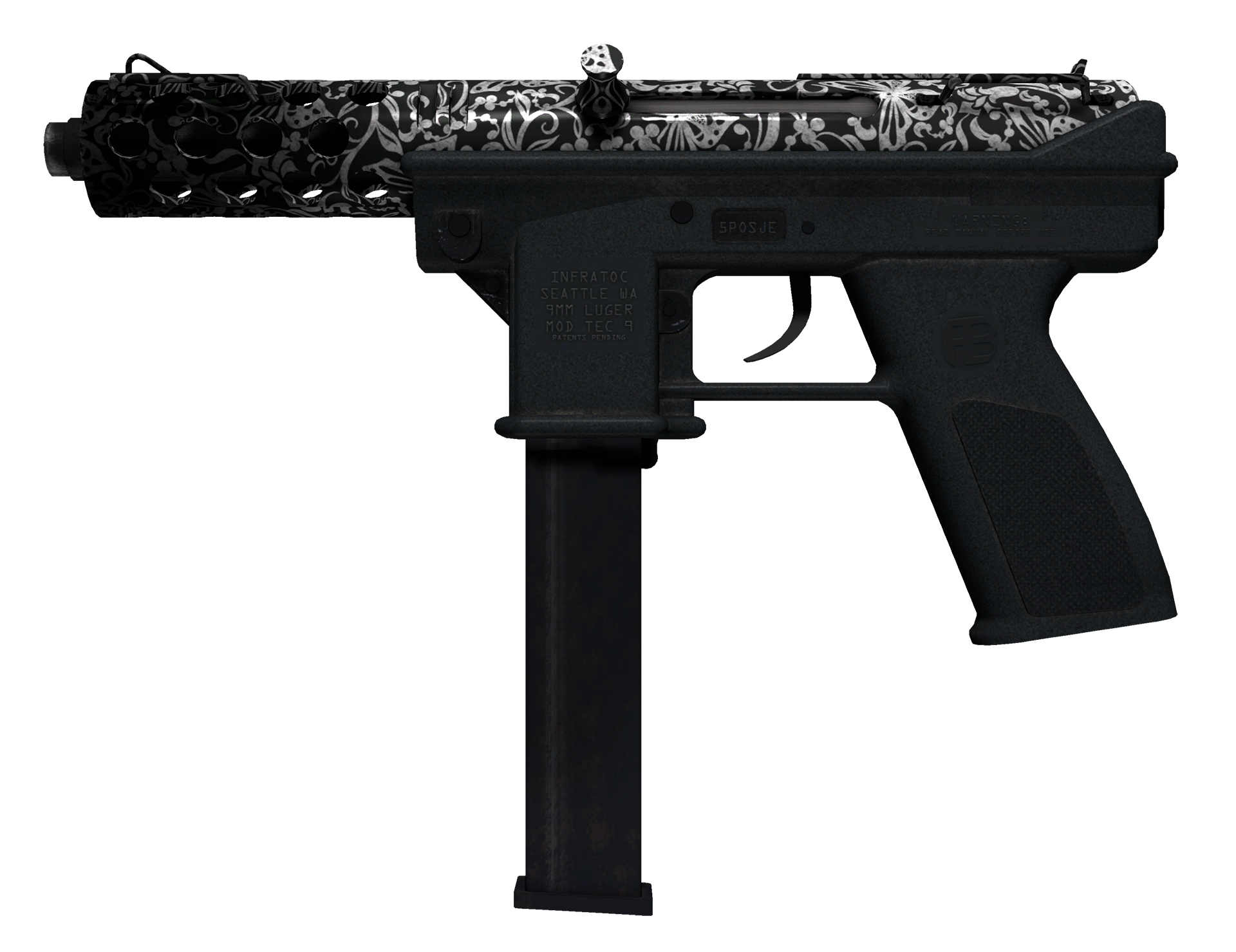 Tec-9 Cut Out Large Rendering