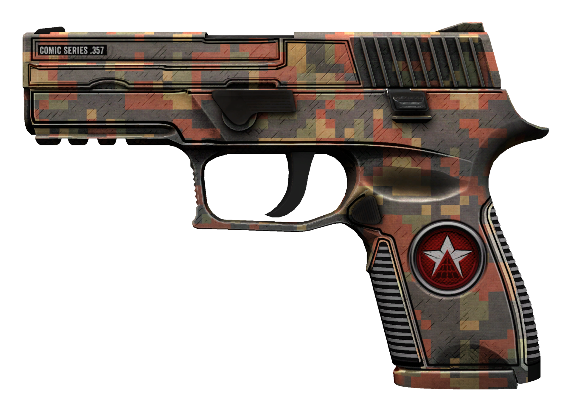 P250 Red Rock Large Rendering