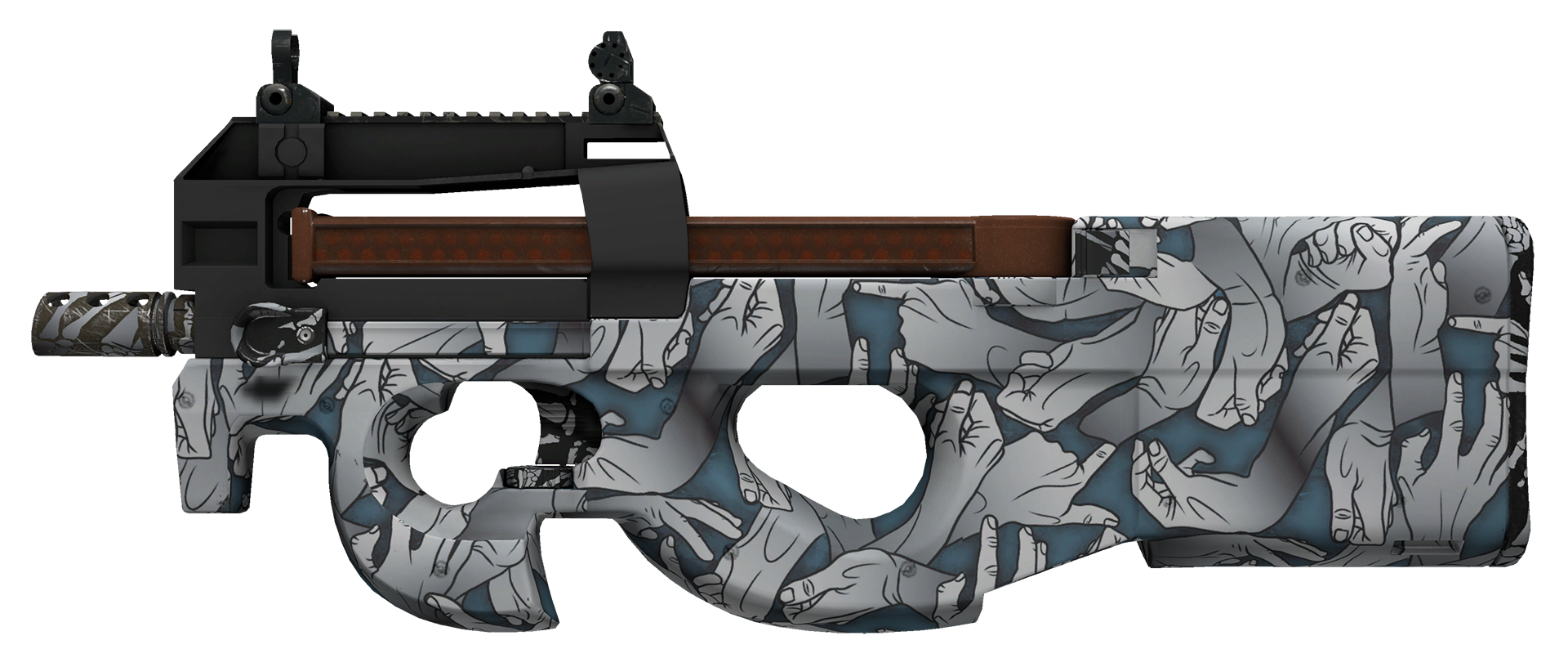 P90 Death Grip Large Rendering