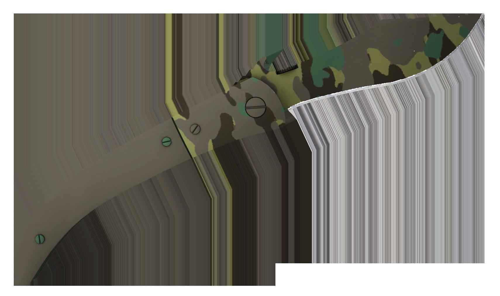 Navaja Knife Boreal Forest Large Rendering