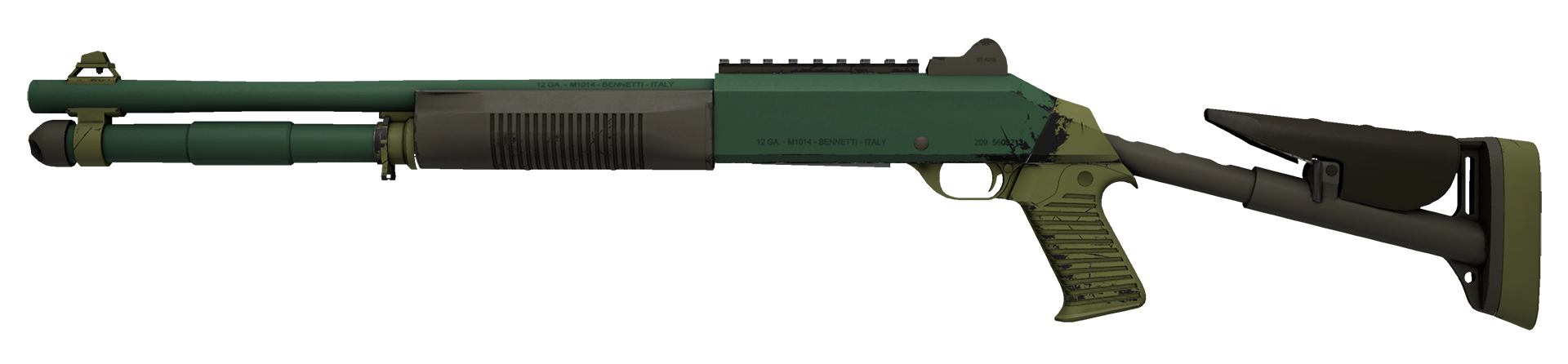 XM1014 Jungle Large Rendering
